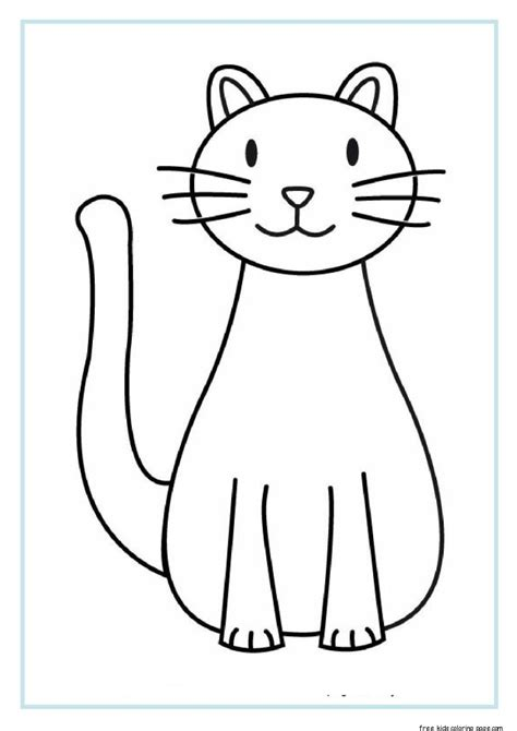 printable cat coloring sheets  kidsfree printable