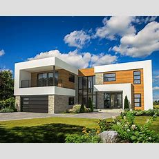 4 Bed Modern House Plan With Master Deck  80828pm