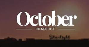 October – tenth month of the year
