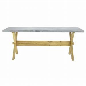 Table Maison Du Monde : maison du monde table beton maison design ~ Teatrodelosmanantiales.com Idées de Décoration