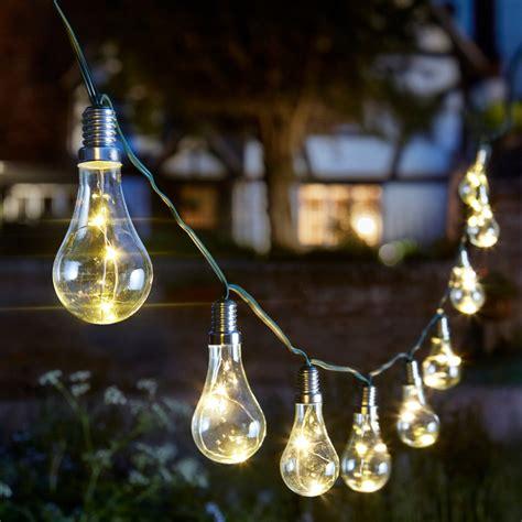 Solar Light Bulbs by Solar Powered Eureka Lightbulb String Light 10 Smart