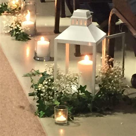 wedding lantern decorations white lanterns with ivy and baby s breath pam dans wedding pam dan pinterest white