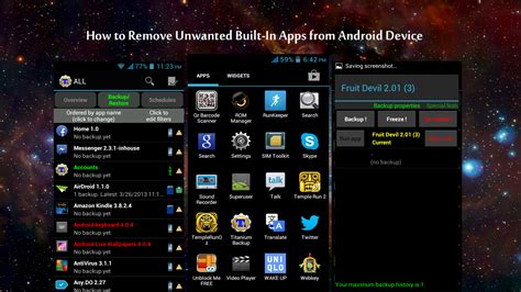 remove unwanted built  apps  android device