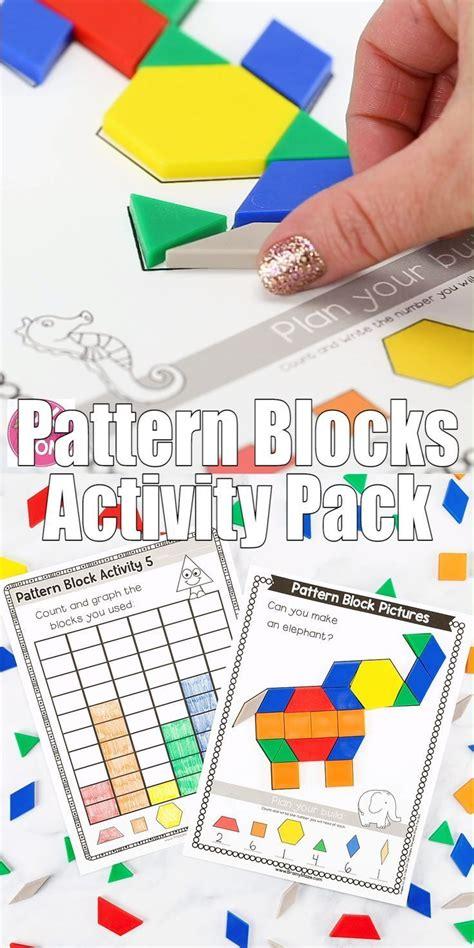 pattern block activity pack  images pattern blocks