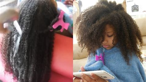 washstyle day  kids  curly thick natural hair