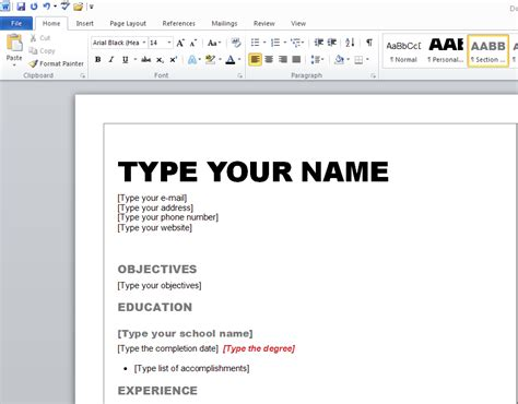 how to create a resume on microsoft word 2007 learn how to create a resume in microsoft word 2010