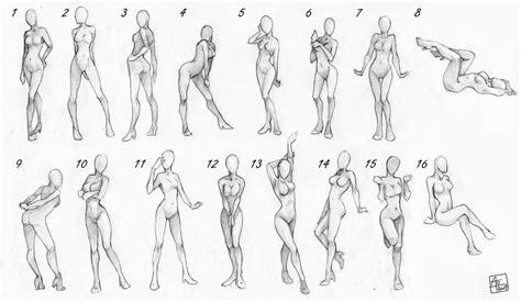female poses chart  aomori  deviantart