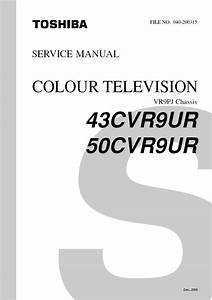 Toshiba 43cvr9ur 50cvr9ur Tv Service Repair Manual