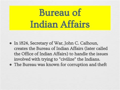 united states bureau of indian affairs unit 3 lesson 6 pptx