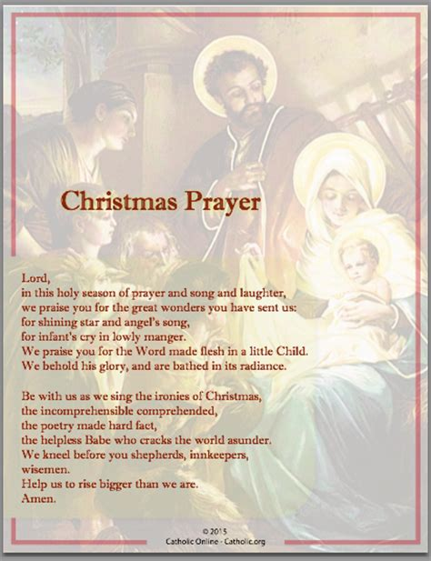 prayers christmas prayer catholic shopping com