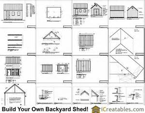 10x16 Shed Plans Pdf by 10x16 Cape Cod Style Shed Plans Icreatables