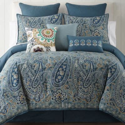 jcpenney home belcourt 4 pc comforter color blue jcpenney