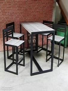 Table Mange Debout Style Industriel : table bar haute hiba table de bar haute tables de bar et table haute ~ Melissatoandfro.com Idées de Décoration