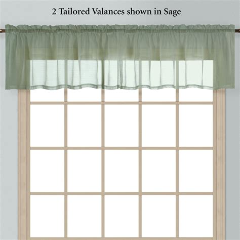 batiste semi sheer window treatment