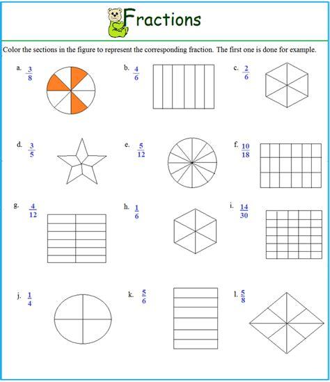representing fractions worksheet worksheet on representing fractions