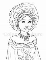 Coloring African Printable Fashions Coloriage Sheets Colouring Desenhos Portraits Culture Adult Negra Colorir Malvorlagen Adults Arte Pintar Desenho Personnages Dessin sketch template