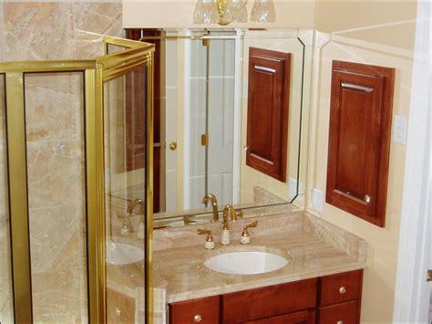 custom bathroom beveled edge mirrors