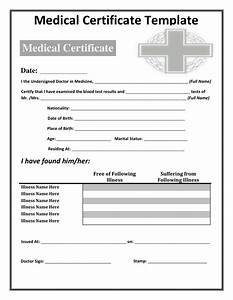 Medical certificate templates certificate templates for Dr certificate template