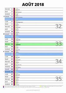 Vacances Aout 2018 : calendrier ao t 2018 imprimer ~ Medecine-chirurgie-esthetiques.com Avis de Voitures