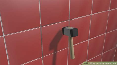 drilling through porcelain tile wall how to drill ceramic tile with pictures wikihow