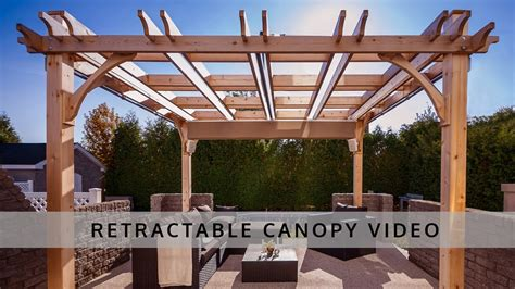 pergola retractable canopy outdoor living today youtube