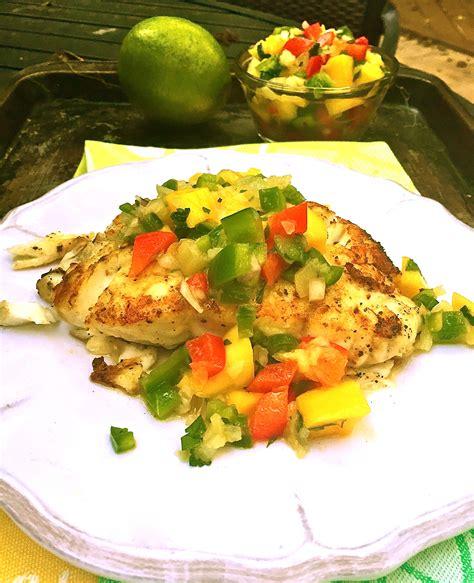 salsa mango grouper grilled tallahassee blogs community spoon plate enjoy
