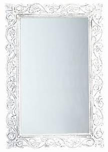 Miroir Blanc Baroque : miroir conforama objet d co d co ~ Teatrodelosmanantiales.com Idées de Décoration