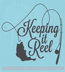 Keeping it Reel Fishing Pole and Fish on Line Wall Art