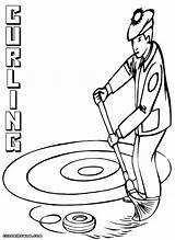 Curling Coloring Pages Colorings Coloringway Print sketch template