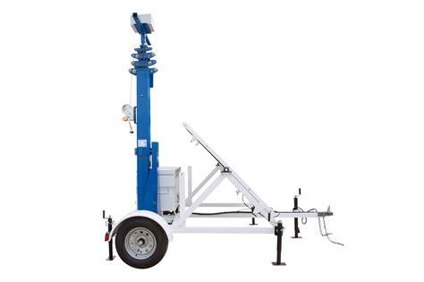 portable trailer lights portable solar light tower 30 mast 7 5 trailer 12v