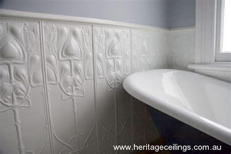 feature walls created  decorative pressed metal panels