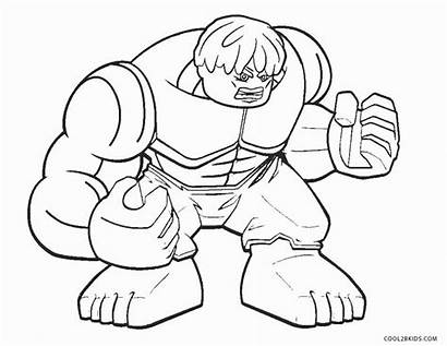 Hulk Coloring Lego Pages Incredible Printable Drawing