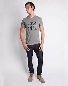 Calvin klein Jeans Classic T-shirt Grey in Gray for Men | Lyst