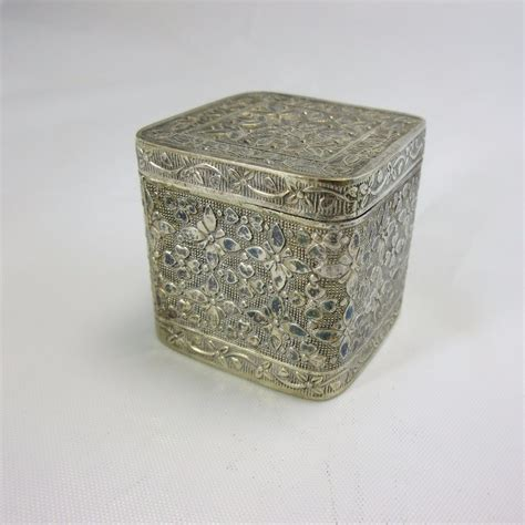 ebay uk antique ls antique 800 silver filigree trinket box jewelry box