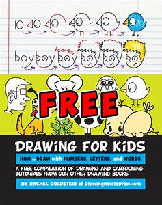 Free drawing activity book for kids how to draw step by for How to draw lettering book
