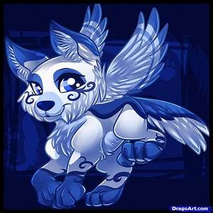 Anime White Wolf with Wings | How to Draw a Flying Wolf ...