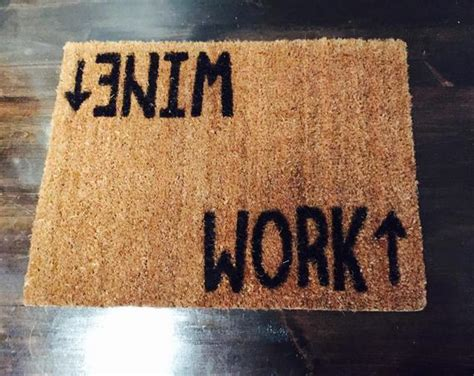Wine Doormat by Wine Work Doormat Novelty Rug By Thisnthatto On Etsy