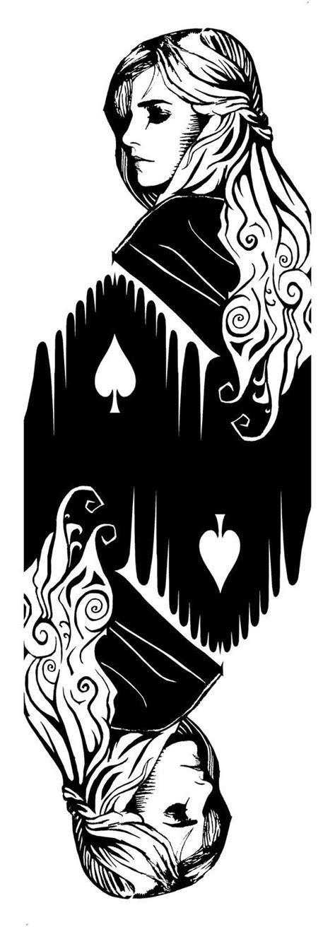 Queen of Spades (double) by ~PiotrHarold on deviantART in 2019 | Queen of spades, Card tattoo, Cards