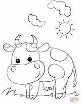 Cow Coloring Pages Cartoon Printable Drawing Cows Animals Colorear Crafts Para Preschool Cattle Longhorn Alphabet Printables Bible Letter Supercoloring Colorings sketch template