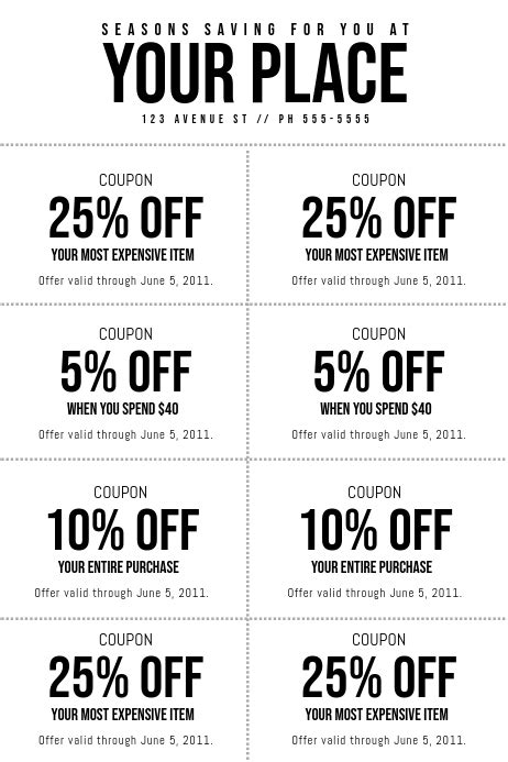 coupon template postermywall