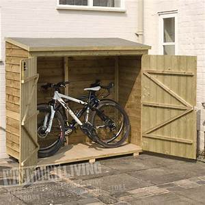 """6' x 2'8"""" FT Wooden Overlap Garden Bike Shed Wall Store"""