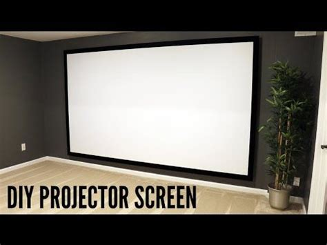 build   projector screen projector screen diy