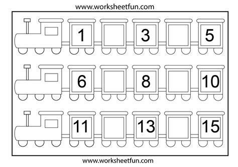 numbers after worksheets kindergarten them and