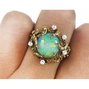 bvlgari engagement rings 4 20ct vintage fiery australian opal 14k gold nugget statement ring