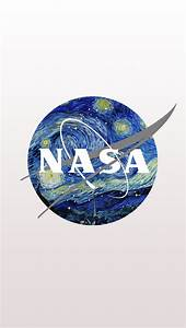 NASA Logo mixed with Starry Night by Van Gogh iPhone 5 ...