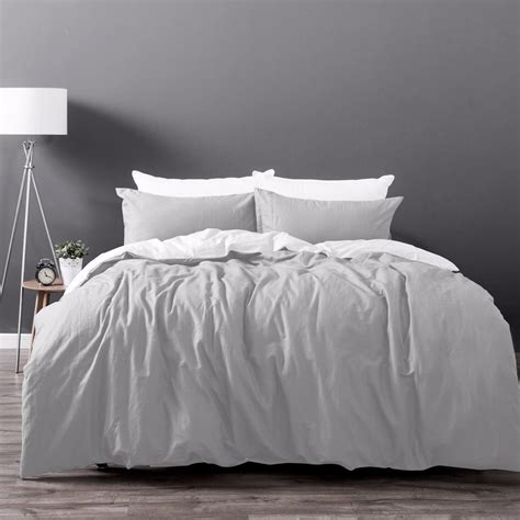 King Sized Duvet by Luxury Cotton Linen Bedding Duvet Cover Set