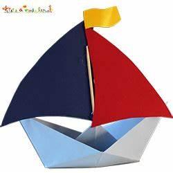 Origami Bateau à Voile : bateau porte bonbons anniversaire t te modeler ~ Dode.kayakingforconservation.com Idées de Décoration