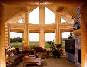 beautiful log home interiors beautiful countryside living room the log builders