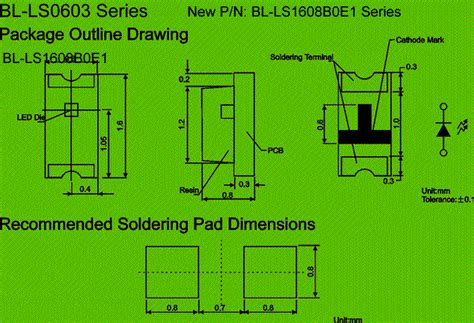 0603 Smd Led Circuit And Dimension
