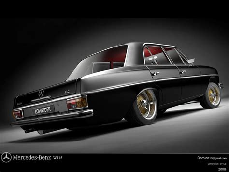 Mercedes w114 coupe 1970r engine m104 3.2l r6 custom classic car. mercedes w114 lowrider by domino3d on DeviantArt